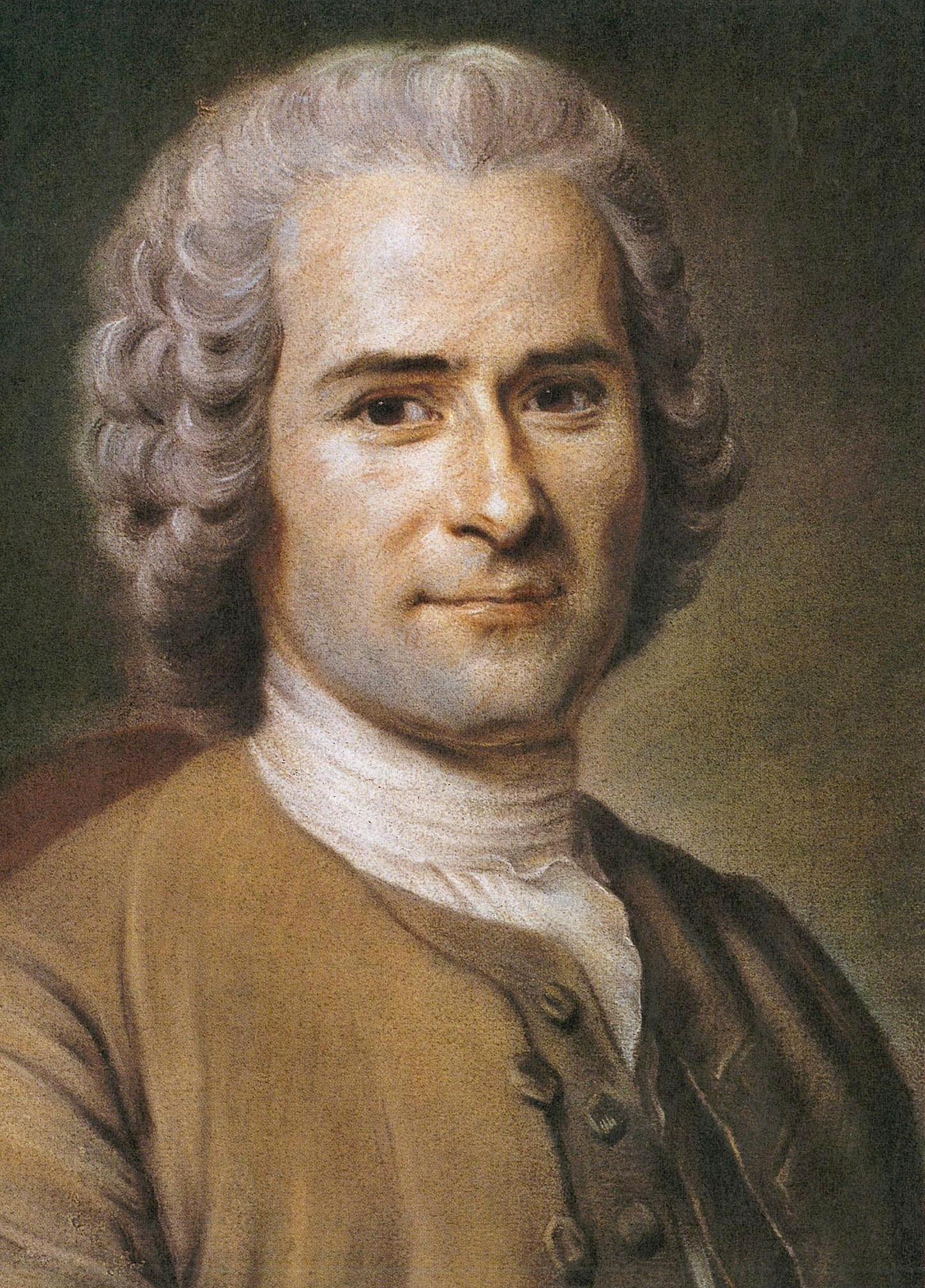 <em>Jean-Jacques Rousseau</em>, par Maurice Quentin de La Tour, pastel sur papier, fin xviii<sup>e</sup>siècle, musée Antoine-Lécuyer, Saint-Quentin.